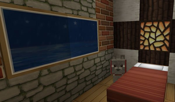 bedroom decorated by the texture soartex fanver.