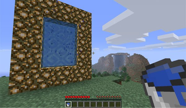 image where we see the structure of the portal, to access the new dimension of aether mod 1.12.2 and 1.11.2.