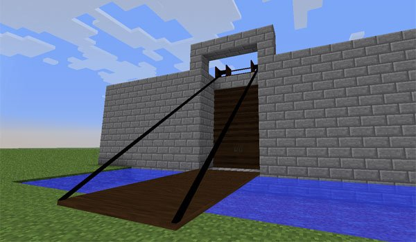 how to make a open and close gate in minecraft
