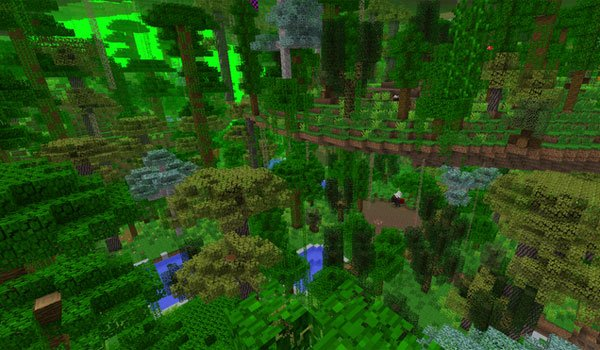 image of the new dimension offered by the mod erebus dimension 1.7.10