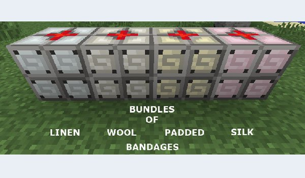 image of bandages that adds mediccraft mod 1.7.2.
