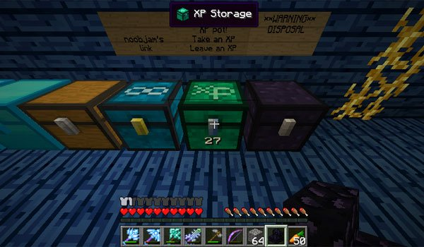 XP Storage Chest Mod