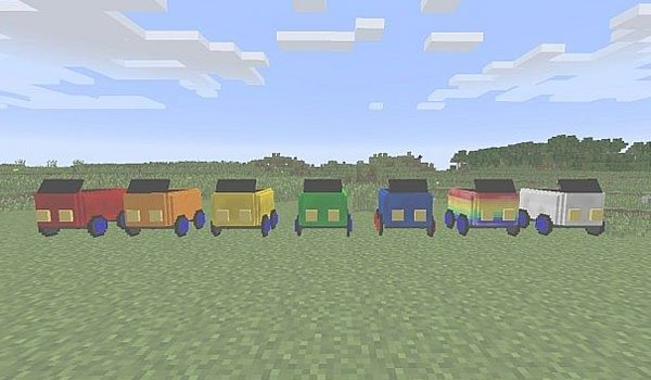 image where we see all cars that can use the javalcars mod 1.7.2.