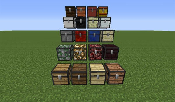 examples of the new chests, using the chest plus mod 1.7.2.