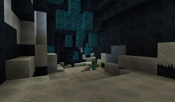 picture inside the ice cave, added by the elemental caves mod 1.7.2.
