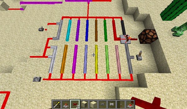 image where we see the wires adds redlogic mod 1.7.2 and 1.7.10