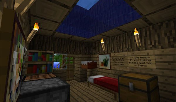 Interior image of the only house there on this island.