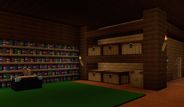 icture of the inside of a house with shelves and chests. All decorated with textures xenocontendi 1.8.