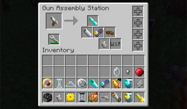 image we can see one of the blocks that allows us to assemble pieces, to create new weapons in Minecraft.