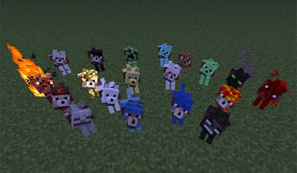 image where we see all the new kinds add of wolves plus mod 1.5.2
