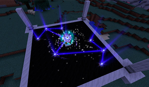 Image where we can see a structure of the Astral Sorcery mod 1.12.2, which will allow us to take advantage of the power of the stars.