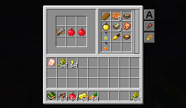 Image where we can see the cookbook that adds the Cooking for Blockheads Mod.