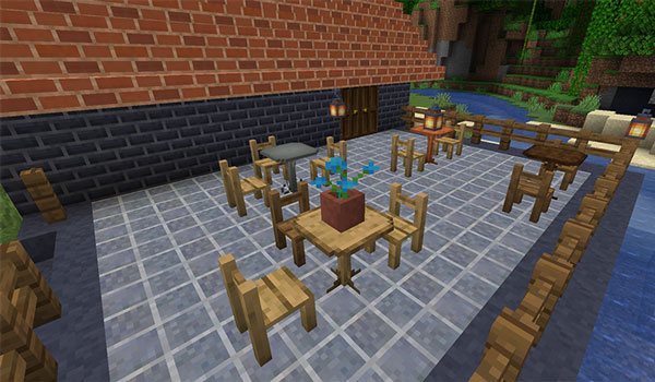 Image where we can see a sample of the new decorative objects that the EmbellishCraft Mod 1.15.2.