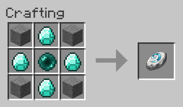 Image where we can see the recipe for making the rune offered by the Hearthstone mod.