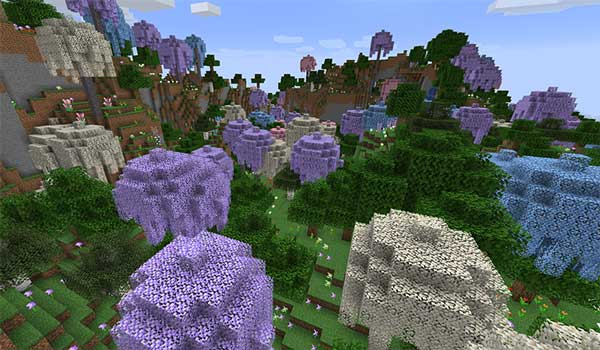 Image where we can see one of the new biomes added by the Atmospheric Mod.