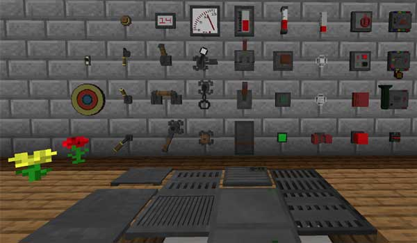 Redstone Gauges and Switches Mod