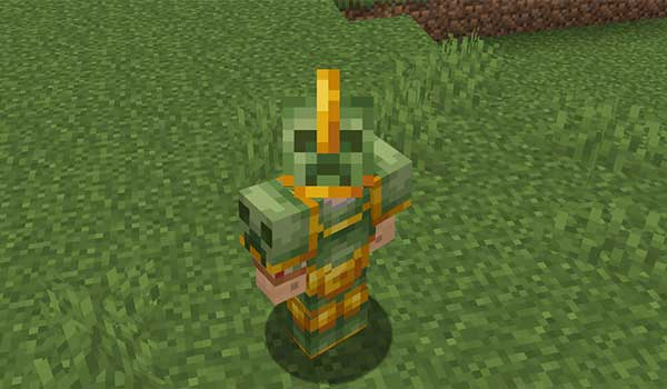 Image where we can see a character equipped with the Griefer armor that adds the Savage & Ravage mod.