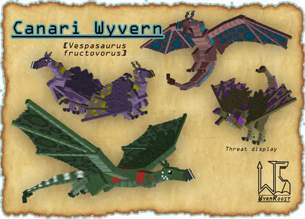 Image where we can see one of the dragons added by Wyrmroost Mod.