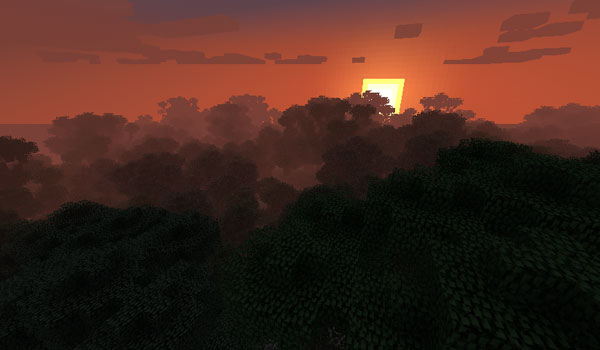Minecraft forest using the bigtrees mod 1.8.9 and 1.7.10.