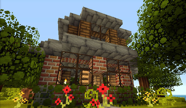 garden house decorated by good morning craft texture pack.