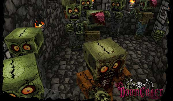 zombies decorated by voondoomcraft texture pack.