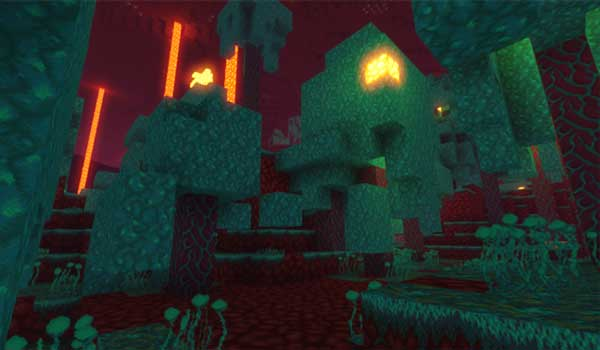Image where we can see how one of the biomes of the Nether dimension will look like after installing Compliance Texture Pack.