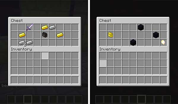 Image where we can see some of the boxes with mystic objects added by the Mystic Tools Mod.
