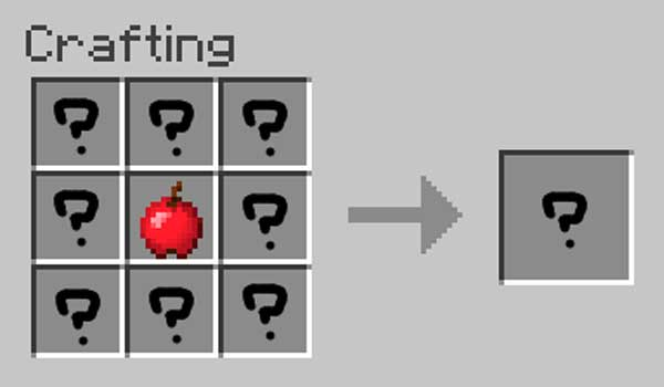 Image where we can see the standard processing of the apples added by the Apples Plus Mod.