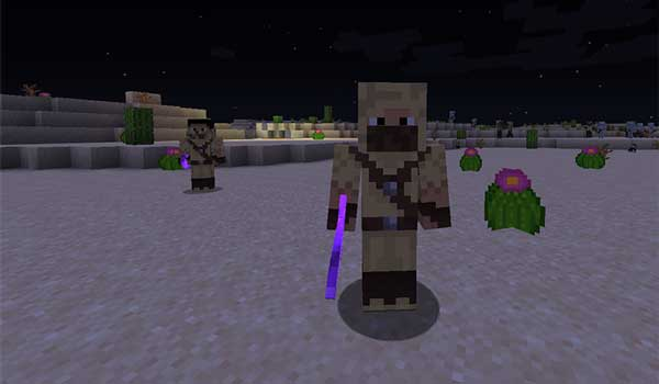 Image where we can see the bandits that will be generated in the deserts after installing the Better Default Biomes Mod.