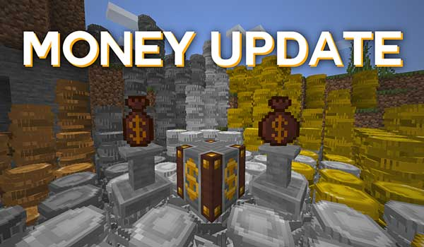 Image where we can see the coins, the coin bags and the market block that Calemi's Utilities Mod offers us.