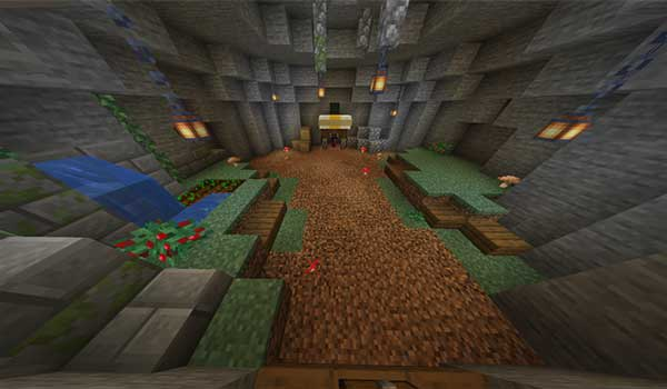 Image where we can see our character's appearance zone in the Caveblock Map.