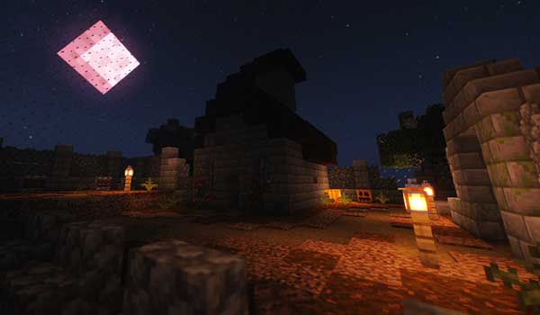 Image where we can see a night landscape in one of the sixteen arenas offered by the Combat Cube 2 Map.