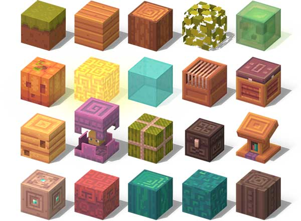 Image where we can see an example of the new texture designs offered by the texture pack Dandelion X.