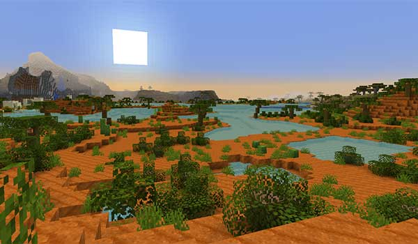 Image where we can see one of the new modified biomes added by the Enhanced Vanilla Mod.