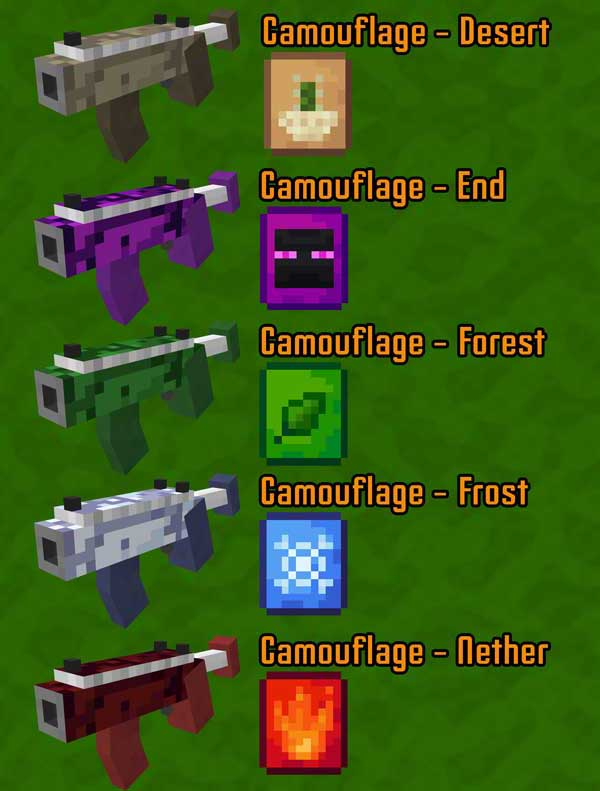 Image where we can see some of the vegetable weapons that will allow us to manufacture and use the Garden Arsenal Mod.