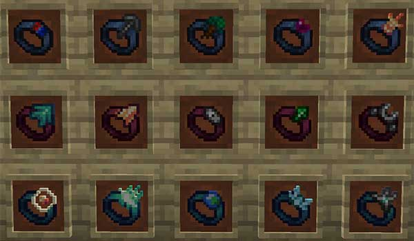 Image where we can see the different rings that we can make with the Gobber Mod.