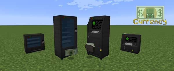 Image where we can see the ATMs and vending machines offered by the Good Ol' Currency Mod.