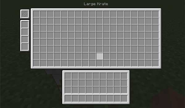 Image where we can see the capacity of one of the boxes that we can make with the Krate Mod.