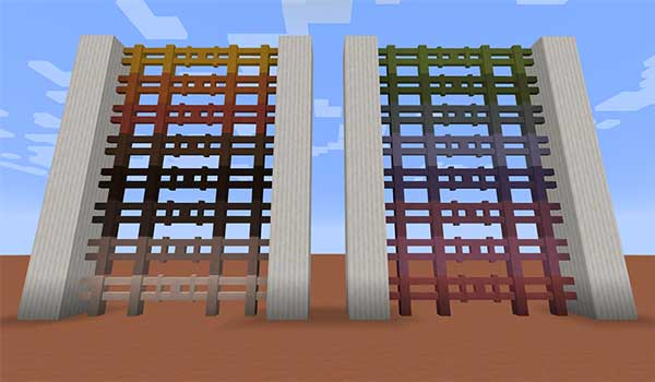 Image where we can see an exhibition of terracotta fences, created with the Lotta Terracotta Mod.
