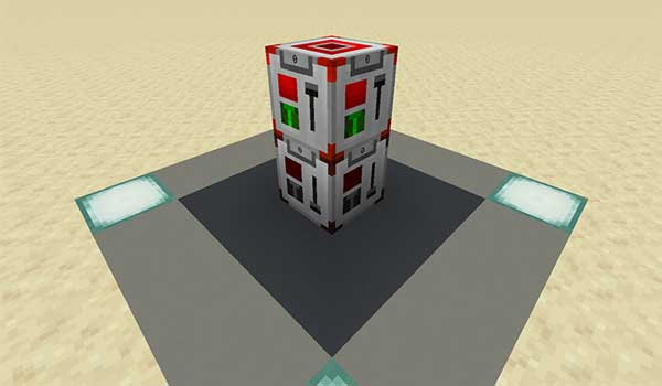 Image where we can see the wireless redstone signal transmitter and receiver offered by the Wireless Redstone RE Mod.