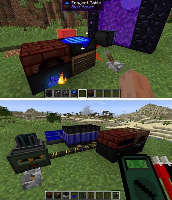 Image where we can see some of the machines and objects that the Blue Power Mod will offer us.