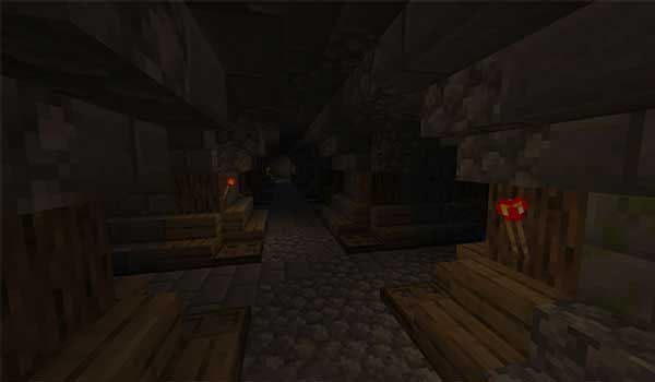 Image where we can see the interior of one of the dungeons that we will be able to explore when installing the Dungeon Crawl Mod.