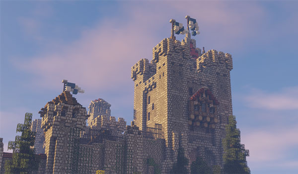 Image where we can see how a castle can look like using Excalibur Texture Pack.