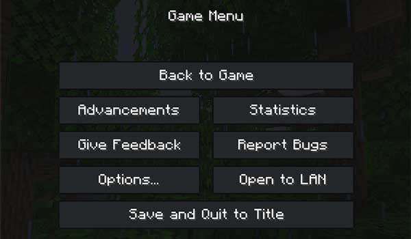 Image where we can see how the dark interface offered by the texture pack FadeCraft will look like.