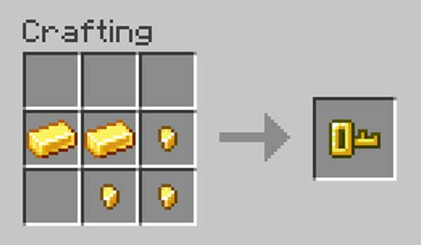 Image where we can see how the key that Lock & Key Mod will offer us is made.