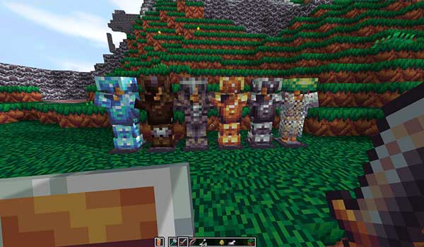Image where we can see how the armors will look like after installing Aluzion Classic Texture Pack.