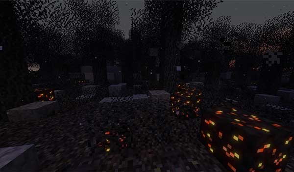Image where we can see the appearance of the new biome added by the Desolation Mod.