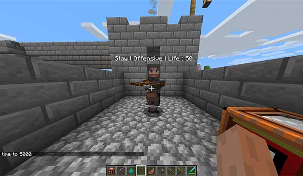 Image where we see one of the guards that we can hire with the GuardsCraft Mod.