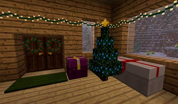 Image where we can see some of the Christmas decorative elements that we can use with Joshua's Christmas Mod.